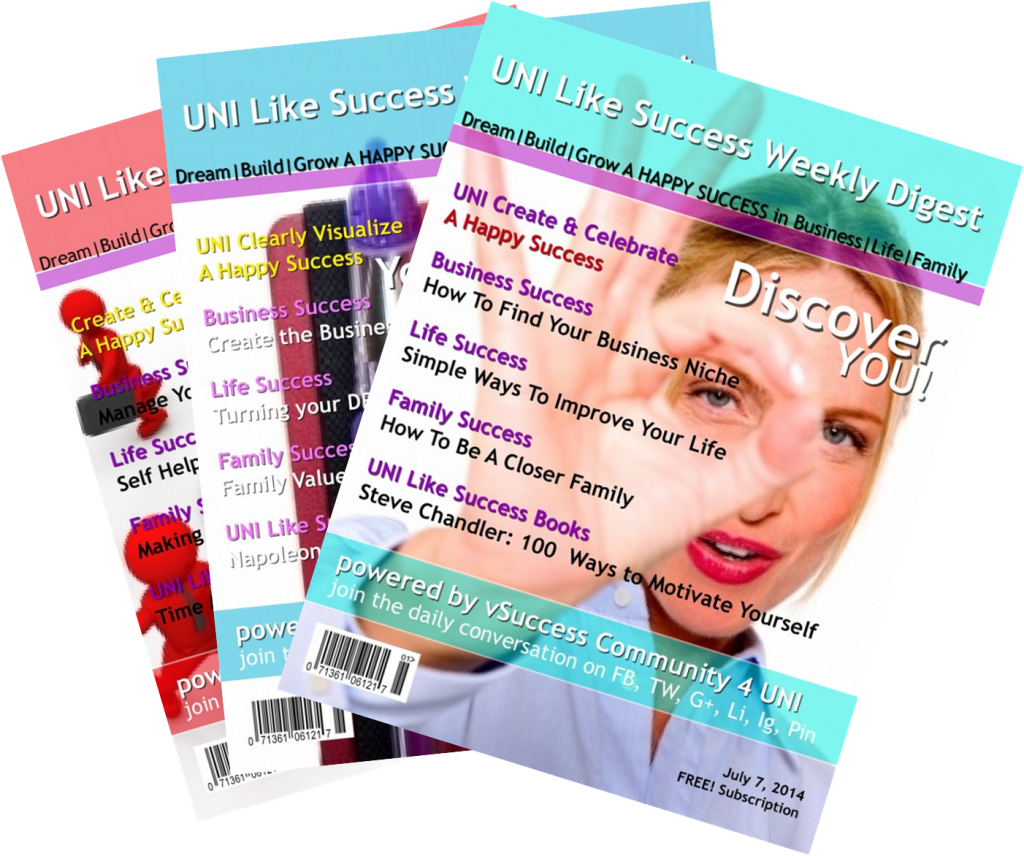 view UNI Like Success Weekly Digest Current Issue  http://www.uni-like.com/successweeklydigest