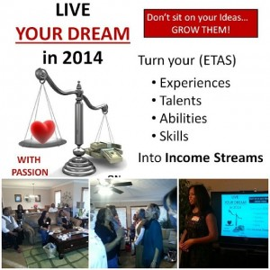 Live Your Dream in 2014 Party with a Purpose Event Jan 18 2014