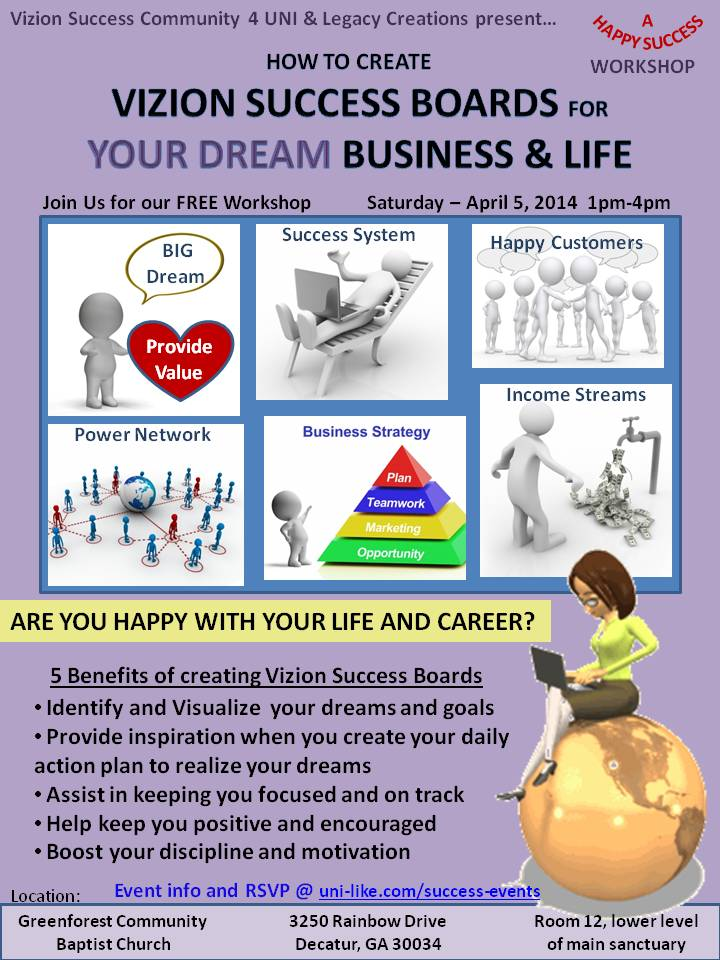 Creating Vizion Success Boards for Your Dream Business and Life April 5, 2014