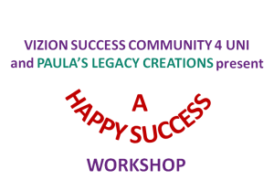 A Happy Success Workshop